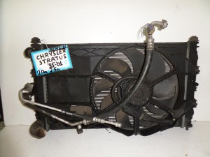 Chrysler Stratus 1995-2001 2.0cc-2.5cc βενζίνη ψυγείο κομπλέ (νερού-air condition-βεντιλατέρ)