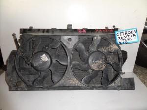 Citroen Xantia 1993-2001 1.9cc diesel ψυγείο κομπλέ (νερού-aircondition-βεντιλατέρ-intercooler)