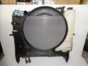 Kia Sorento 2002-2009 2.4cc βενζίνη ψυγείο κομπλέ (νερού-παγούρι-μοτέρ-χοάνη-intercooler)