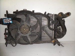 Opel corsa C combo 01-10 1.4-1.6-1.8cc βενζίνη ψυγείο κομπλέ (νερού-air condition-βεντιλατέρ)