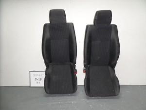 Suzuki Swift 2005-2011 5θυρο κάθισμα εμπρός αριστερό-δεξί γκρί σκούρο