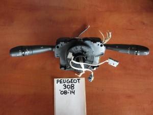 Peugeot 308 2008-2013 διακόπτης φώτων-φλάς και υαλοκαθαριστήρων