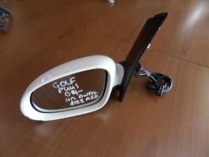 VW golf plus 2004-2014 ηλεκτρικός ανακλινόμενος καθρέπτης αριστερός άσπρος (9 καλώδια-φώς ασφαλείας)