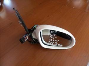 VW golf plus 04 ηλεκτρικός ανακλινόμενος καθρέπτης δεξιός άσπρος (13 καλώδια-φώς ασφαλείας)
