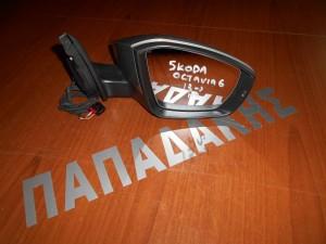 Skoda Octavia 6 2013--> καθρέπτης εξωτερικός δεξιός ηλεκτρικός ασημί