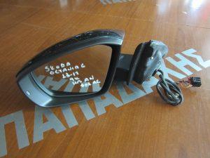 Skoda Octavia 6 2013-2017 καθρέπτης αριστερός ηλεκτρικά ανακλινόμενος 9 καλώδια μολυβί φως ασφαλείας