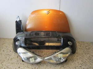 Citroen C3 Pluriel 2003-2010 μετώπη-μούρη κομπλέ: (καπώ-2 φανάρια-1 φτερό δεξιό-προφυλακτήρας με προβολείς-μετώπη-τραβέρσα προφυλακτήρα)