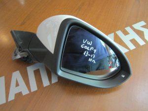 VW Golf-7 2013-2017 καθρέπτης δεξιός ηλεκτρικός άσπρος