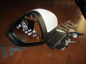 Citroen DS4 2011-2017 αριστερός ηλεκτρικά ανακλινόμενος καθρέπτης άσπρος φως ασφαλείας