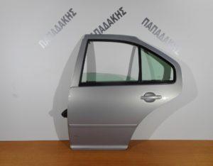 VW Bora 1998-2005 πόρτα πίσω αριστερή ασημί