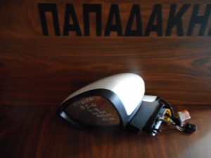 Citroen DS4 2011-2018 αριστερός καθρέπτης ηλεκτρικά ανακλινόμενος άσπρος 11 καλώδια φως ασφαλείας