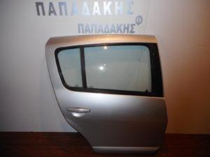 Dacia Sandero 2007-> πίσω δεξιά πόρτα ασημί με φάσα