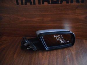 Bmw S5 E60/61 2003-2010 ηλεκτρικά ανακλινόμενος καθρέπτης δεξιός ασημί 3 καλώδια μαύρος φις