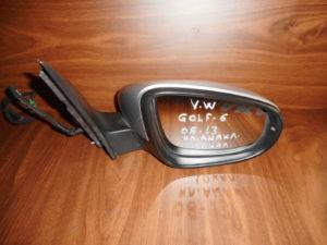 VW Golf 6 2008-2013 ηλεκτρικά ανακλινόμενος καθρέπτης δεξιός ασημί 10 καλώδια