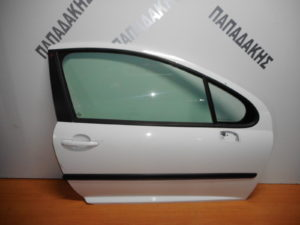 Peugeot 207 2006-2012 πόρτα δεξιά δύθυρη άσπρη