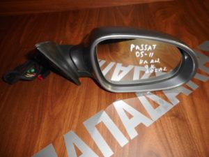 VW Passat 2005-2011 ηλεκτρικά ανακλινόμενος καθρέπτης δεξιός γκρι 9 καλώδια φως ασφαλείας