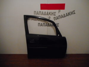 Mitsubishi Colt 2008-2012 πόρτα εμπρός δεξιά μαύρη (χωρίς αφαλό)